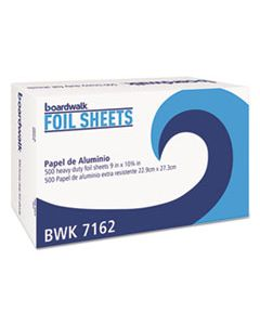"BWK7162BX STANDARD ALUMINUM FOIL POP-UP SHEETS, 9"" X 10 3/4"", 500/BOX"