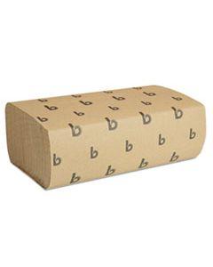 BWK6202 MULTIFOLD PAPER TOWELS, NATURAL, 9 X 9 9/20, 250/PACK, 16 PACKS/CARTON
