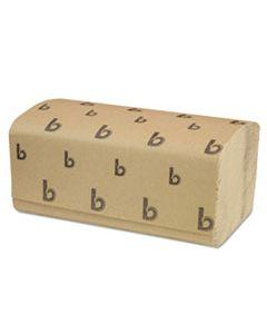 BWK6210 SINGLEFOLD PAPER TOWELS, NATURAL, 9 X 9 9/20, 250/PACK, 16 PACKS/CARTON