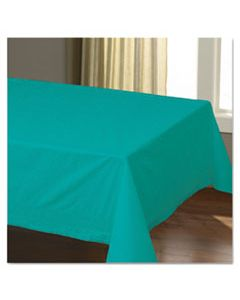 """HFM220601 CELLUTEX TABLE COVERS, TISSUE/POLYLINED, 54"""" X 108"""", TEAL, 25/CARTON"""
