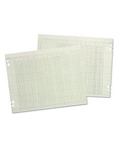 WLJG1010 ACCOUNTING SHEETS, 10 COLUMN, 9-1/4 X 11-7/8, 100 LOOSE SHEETS/PACK, GREEN