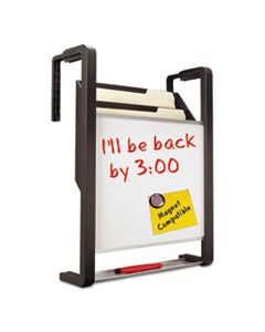 QRTOFD HANGING FILE POCKET WITH DRY ERASE BOARD, THREE POCKETS, LETTER, BLACK