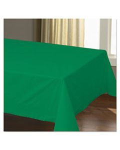 """HFM220629 CELLUTEX TABLE COVERS, TISSUE/POLYLINED, 54"""" X 108"""", JADE GREEN, 25/CARTON"""