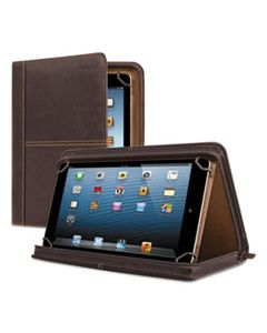 """USLVTA1373 PREMIERE LEATHER UNIVERSAL TABLET CASE, FITS TABLETS 8.5"""" UP TO 11"""", ESPRESSO"""
