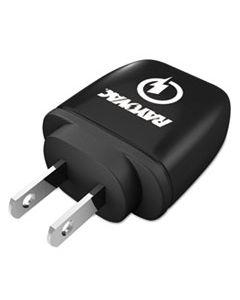 RAYPS101E SINGLE USB WALL CHARGER, 1 USB PORT, BLACK