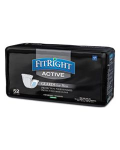 """MIIMSCMG02CT FITRIGHT ACTIVE MALE GUARDS, 6"""" X 11"""", WHITE, 52/PACK, 4 PACK/CARTON"""