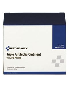 FAO12700 TRIPLE ANTIBIOTIC OINTMENT, 0.5 G PACKET, 60/BOX