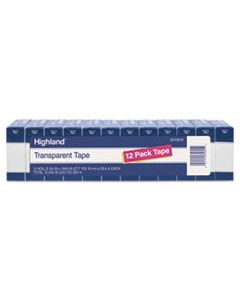 "MMM5910K12 TRANSPARENT TAPE, 1"" CORE, 0.75"" X 83.33 FT, CLEAR, 12/PACK"