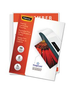 """FEL52040 IMAGELAST LAMINATING POUCHES WITH UV PROTECTION, 5 MIL, 9"""" X 11.5"""", CLEAR, 100/PACK"""