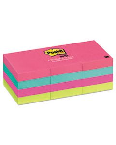 MMM653AN ORIGINAL PADS IN CAPE TOWN COLORS, 1 3/8 X 1 7/8, 100-SHEET, 12/PACK