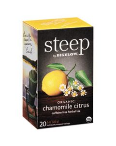 BTC17707 STEEP TEA, CHAMOMILE CITRUS HERBAL, 1 OZ TEA BAG, 20/BOX