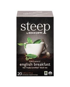 BTC17701 STEEP TEA, ENGLISH BREAKFAST, 1.6 OZ TEA BAG, 20/BOX