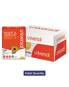 UNV20030PLT 30% RECYCLED COPY PAPER, 92 BRIGHT, 20LB, 8.5 X 11, WHITE, 500 SHEETS/REAM, 10 REAMS/CARTON, 40 CARTONS/PALLET