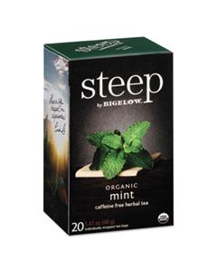 BTC17709 STEEP TEA, MINT, 1.41 OZ TEA BAG, 20/BOX