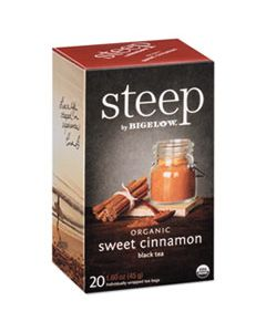 BTC17712 STEEP TEA, SWEET CINNAMON BLACK TEA, 1.6 OZ TEA BAG, 20/BOX
