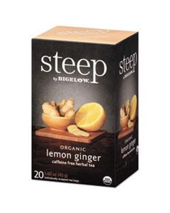 BTC17704 STEEP TEA, LEMON GINGER, 1.6 OZ TEA BAG, 20/BOX