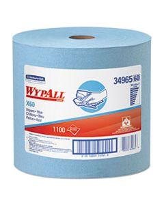 KCC34965 X60 CLOTHS, JUMBO ROLL, 12 1/2 X 13 2/5, BLUE, 1100/ROLL
