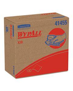 KCC41455 X70 CLOTHS, POP-UP BOX, 9 1/10 X 16 4/5, WHITE, 100/BOX, 10 BOXES/CARTON
