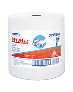 KCC34955 X60 CLOTHS, JUMBO ROLL, WHITE, 12 1/2 X 13 2/5, 1100 TOWELS/ROLL