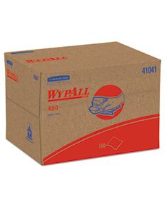 KCC41041 X80 CLOTHS, BRAG BOX, HYDROKNIT, BLUE, 12 1/2 X 16 4/5, 160 WIPERS/CARTON