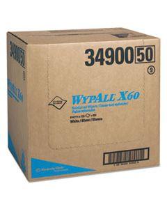 KCC34900 X60 CLOTHS, FLAT SHEET, 12 1/2 X 16 4/5, WHITE, 150/BX, 6/CT