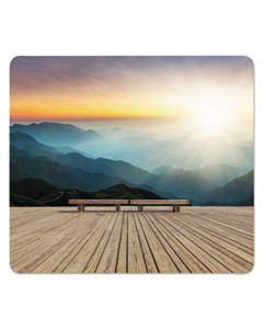 FEL5916201 RECYCLED MOUSE PADS, MOUNTAIN DESIGN, 9 X 8 X 1/16
