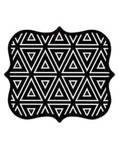 FEL5919201 DESIGNER MOUSE PADS, GEOMETRIC TRIANGLES, 9 X 8 X 3/16