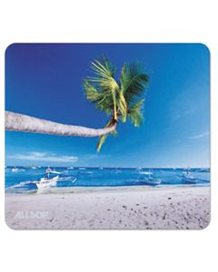 ASP31621 NATURESMART MOUSE PAD, OUTRIGGER BEACH DESIGN, 8 1/2 X 8 X 1/10