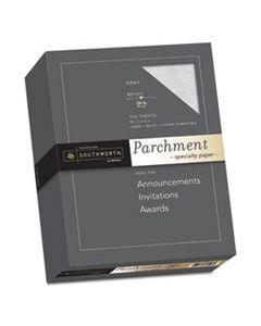 SOU974C PARCHMENT SPECIALTY PAPER, 24 LB, 8.5 X 11, GRAY, 500/REAM