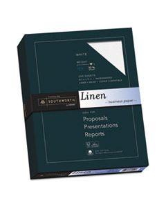 SOUJ558C 25% COTTON LINEN BUSINESS PAPER, 32 LB, 8.5 X 11, WHITE, 250/PACK