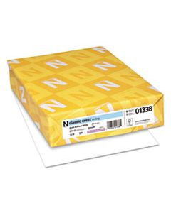 NEE01338 CLASSIC CREST STATIONERY, 93 BRIGHT, 24 LB, 8.5 X 11, AVON WHITE, 500/REAM