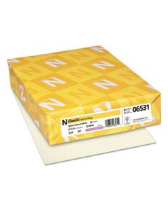 NEE06531 CLASSIC LAID STATIONERY, 24 LB, 8.5 X 11, CLASSIC NATURAL WHITE, 500/REAM