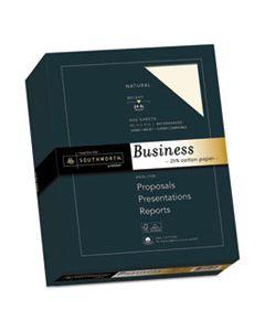SOU404NC 25% COTTON BUSINESS PAPER, 24 LB, 8.5 X 11, NATURAL, 500/REAM