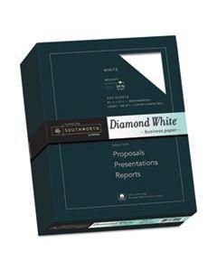 SOU3122410 25% COTTON DIAMOND WHITE BUSINESS PAPER, 95 BRIGHT, 24 LB, 8.5 X 11, 500/REAM