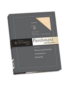 SOUP894CK336 PARCHMENT SPECIALTY PAPER, 24 LB, 8.5 X 11, COPPER, 100/PACK
