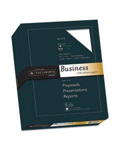 SOU403C 25% COTTON BUSINESS PAPER, 95 BRIGHT, 20 LB, 8.5 X 11, WHITE, 500/REAM