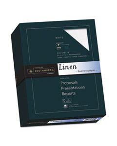 SOU554C 25% COTTON LINEN BUSINESS PAPER, 91 BRIGHT, 24 LB, 8.5 X 11, WHITE, 500/REAM