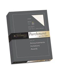 SOUJ988C PARCHMENT SPECIALTY PAPER, 32 LB, 8.5 X 11, IVORY, 250/PACK