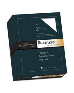 SOU13C 100% COTTON BUSINESS PAPER, 95 BRIGHT, 20 LB, 8.5 X 11, WHITE, 500/REAM