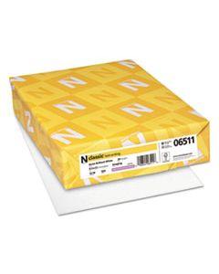 NEE06511 CLASSIC LAID STATIONERY, 93 BRIGHT, 24 LB, 8.5 X 11, AVON WHITE, 500/REAM