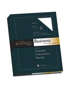 SOUJD18C 100% COTTON BUSINESS PAPER, 95 BRIGHT, 32 LB, 8.5 X 11, WHITE, 250/PACK