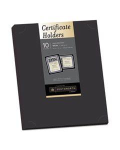 SOUPF18 CERTIFICATE HOLDER, BLACK, 105LB LINEN STOCK, 12 X 9 1/2, 10/PACK