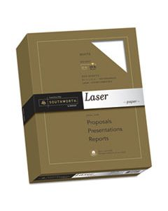 SOU3172410 25% COTTON LASER PAPER, 95 BRIGHT, 24 LB, 8.5 X 11, WHITE, 500/REAM
