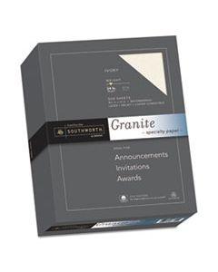 SOU934C GRANITE SPECIALTY PAPER, 24 LB, 8.5 X 11, IVORY, 500/REAM