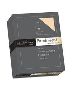 SOU894C PARCHMENT SPECIALTY PAPER, 24 LB, 8.5 X 11, COPPER, 500/BOX
