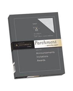 SOUP974CK336 PARCHMENT SPECIALTY PAPER, 24 LB, 8.5 X 11, GRAY, 100/PACK