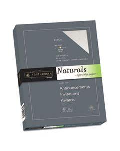 SOU99418 NATURALS PAPER, 32 LB, 8.5 X 11, BIRCH, 100/PACK