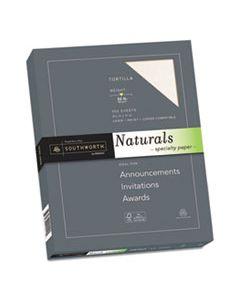 SOU99417 NATURALS PAPER, 32 LB, 8.5 X 11, LATTE, 100/PACK