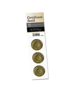 "SOU99294 CERTIFICATE SEALS, 1.75"" DIA., GOLD, 3/SHEET, 5 SHEETS/PACK"