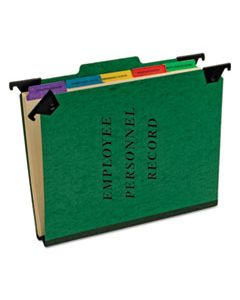 PFXSER2GR HANGING STYLE PERSONNEL FOLDERS, 1/3-CUT TABS, CENTER POSITION, LETTER SIZE, GREEN